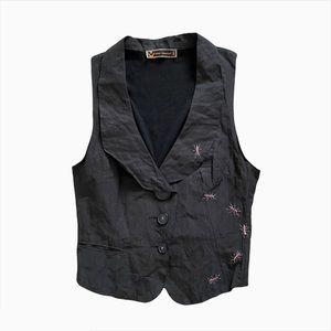 Vintage Cop Copine Graphic Embroidered Vest Top